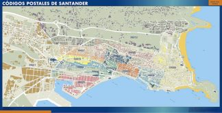 Biggest Zip codes Santander map