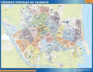 Biggest Zip codes Valencia map