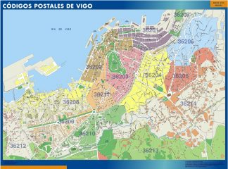 Biggest Zip codes Vigo map