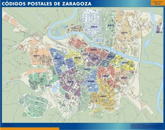 Biggest Zip codes Zaragoza map