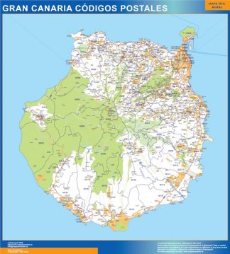 Biggest Zip codes isla Gran Canaria map