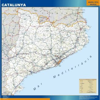 Biggest map of Catalonia roads