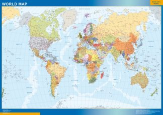 Biggest world wall map english