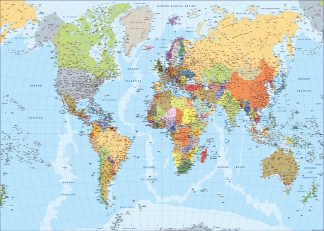 World map Spanish